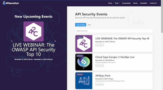 API Security Conference Calendar